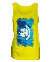 Louisiana State Grunge Flag Ladies Vest