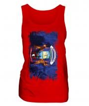 Michigan State Grunge Flag Ladies Vest