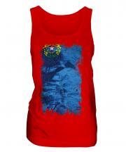 Nevada State Grunge Flag Ladies Vest