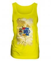 New Jersey State Grunge Flag Ladies Vest