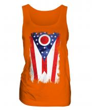 Ohio State Grunge Flag Ladies Vest