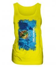 Oklahoma State Grunge Flag Ladies Vest