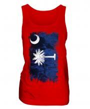 South Carolina State Grunge Flag Ladies Vest