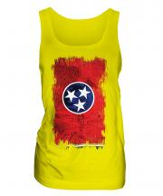 Tennessee State Grunge Flag Ladies Vest