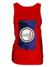 Virginia State Grunge Flag Ladies Vest