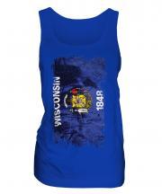 Wisconsin State Grunge Flag Ladies Vest
