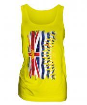 British Columbia Grunge Flag Ladies Vest