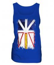 Newfoundland And Labrador Grunge Flag Ladies Vest