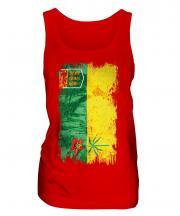 Saskatchewan Grunge Flag Ladies Vest