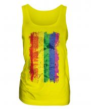 Gay Pride Grunge Flag Ladies Vest
