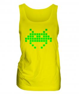 Neon Space Invader Ladies Vest