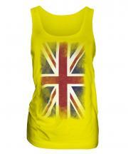 Union Jack Faded Flag Ladies Vest