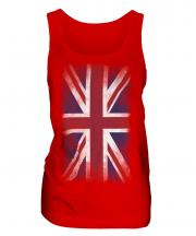 Union Jack Faded Flag Ladies Vest