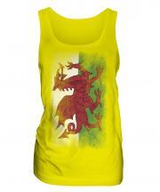 Wales Faded Flag Ladies Vest
