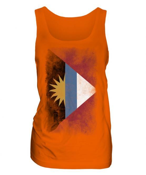 Antigua And Barbuda Faded Flag Ladies Vest