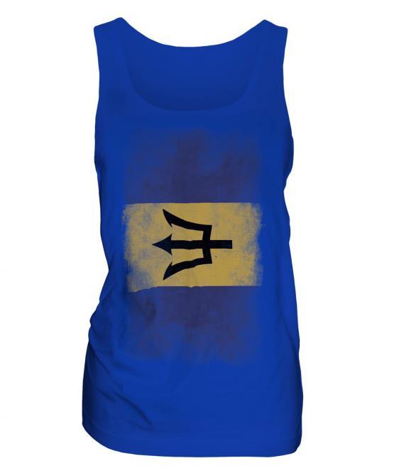 Barbados Faded Flag Ladies Vest
