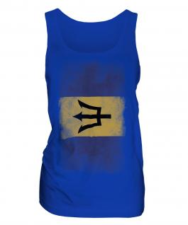 Barbados Faded Flag Ladies Vest