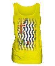 British Indian Ocean Territory Faded Flag Ladies Vest
