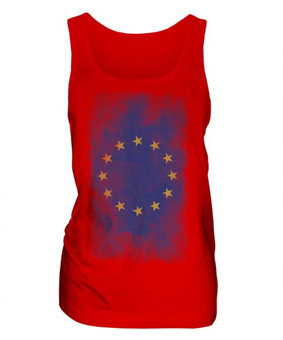 European Union Faded Flag Ladies Vest
