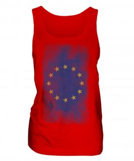 European Union Faded Flag Ladies Vest