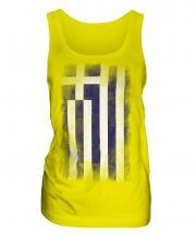 Greece Faded Flag Ladies Vest
