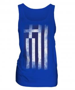 Greece Faded Flag Ladies Vest