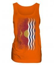 Kiribati Faded Flag Ladies Vest