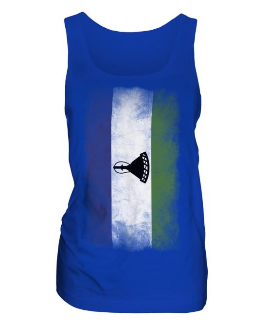 Lesotho Faded Flag Ladies Vest