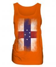 Netherlands Antilles Faded Flag Ladies Vest