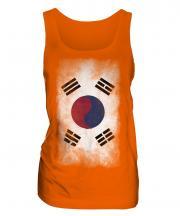 South Korea Faded Flag Ladies Vest
