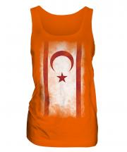 Turkish Republic Of Northern Cyprus Faded Flag Ladies Vest