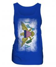 Us Virgin Islands Faded Flag Ladies Vest