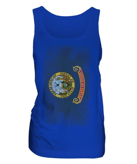 Idaho State Faded Flag Ladies Vest