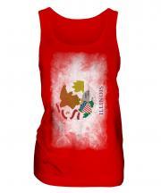 Illinois State Faded Flag Ladies Vest