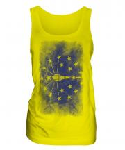 Indiana State Faded Flag Ladies Vest