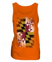 Maryland State Faded Flag Ladies Vest