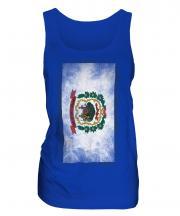West Virginia State Faded Flag Ladies Vest