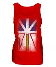Newfoundland And Labrador Faded Flag Ladies Vest