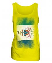 Yukon Faded Flag Ladies Vest
