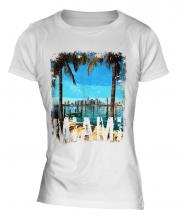 Miami Grunge Print Ladies T-Shirt