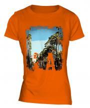 L.A. Grunge Print Ladies T-Shirt