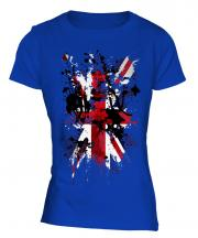 Union Jack Abstract Print Ladies T-Shirt