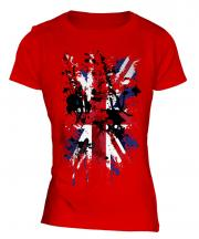 Union Jack Abstract Print Ladies T-Shirt