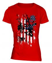 Stars And Stripes Abstract Print Ladies T-Shirt