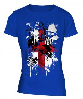 England St. George Cross Abstract Print Ladies T-Shirt