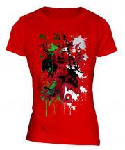 Wales Flag Abstract Print Ladies T-Shirt