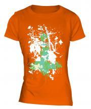 Grunge Cross Ladies T-Shirt