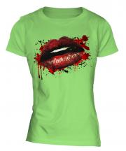 Grunge Lips Ladies T-Shirt