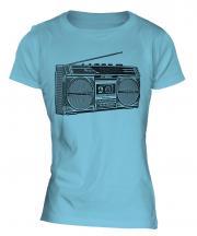 Retro Boombox Ladies T-Shirt