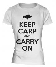 Keep Carp And Carry On Ladies T-Shirt